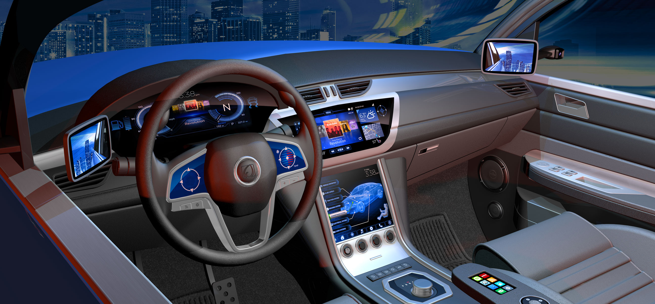 Automotive Image - Display , TDDI, Touch and Biometrics